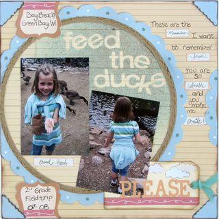 Melanie Stanczyk Feed the ducks