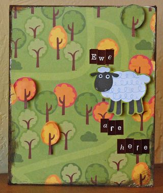 MLS - Ewe are Here card (simple life)