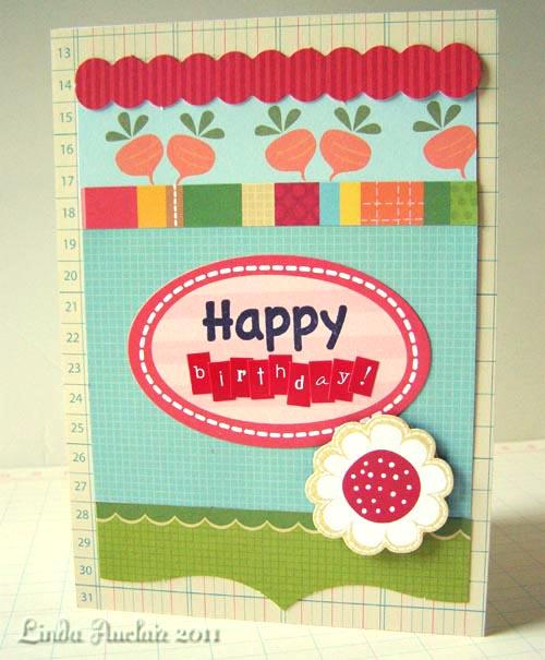 Garden birthday card photo