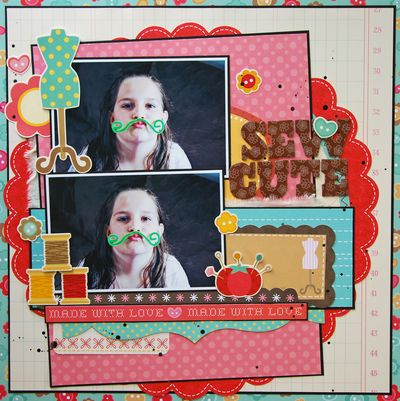 Zoe July Assignment - Sew Cute Layout