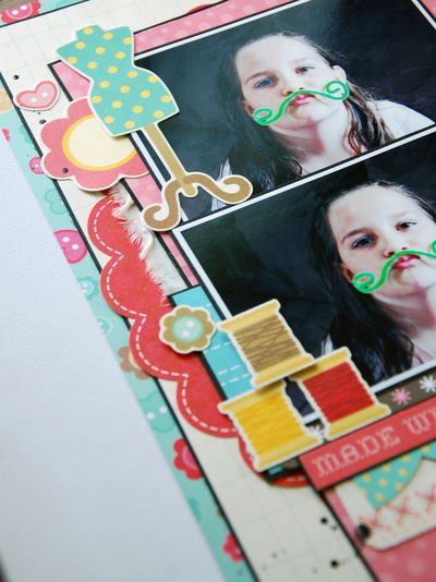 Zoe July Assignment - Sew Cute Layout 3