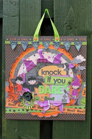 Beckie D Halloween Door Plaque