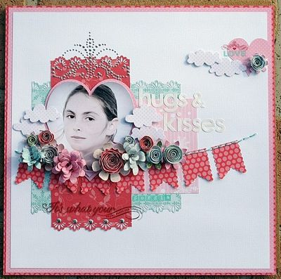 Melinda - JAN - Hugs & Kisses Layout