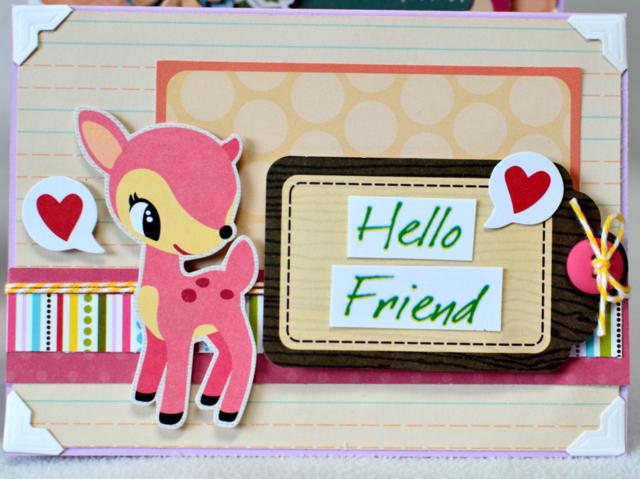 Deer friend card set (3)