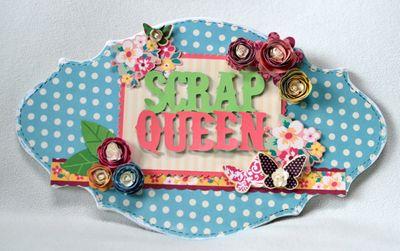 Scrap queen plaque (1)