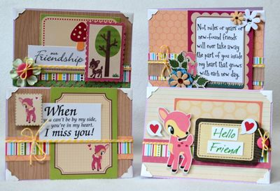 Deer friend card set (1)