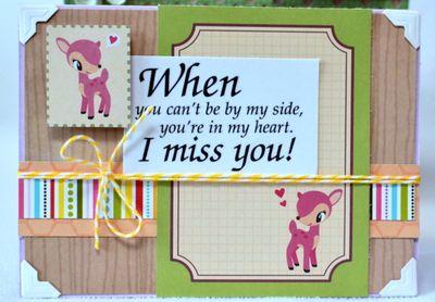Deer friend card set (4)
