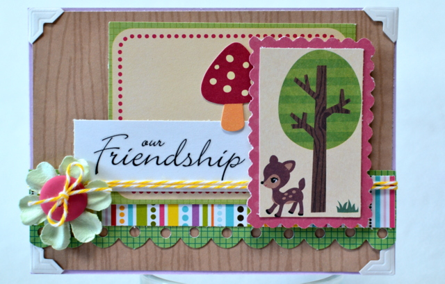 Deer friend card set (5)